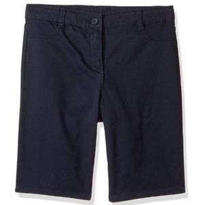 Nautica Girls 18.5 Plus Size Navy 5-Pocket Short